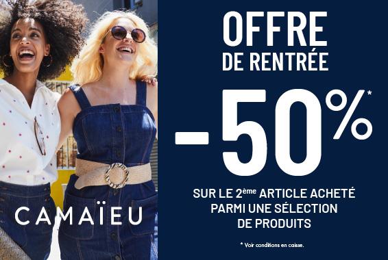 Centre Commercial Le Portail - offre enseigne - boutique Camaïeu Réunion